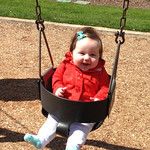 Rowen's first time on the swings