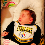 Showing her colors. Go steelers!